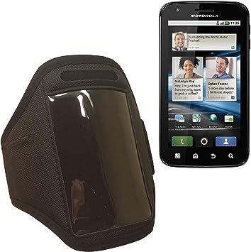 Brazalete deportivo para Motorola Atrix MB860 # – Brazo y funda para móvil, Smartphone, funda caso negro para teléfono móvil funda de neopreno para gimnasio/ocio/Ciclismo/Correr: Amazon.es: Electrónica