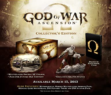 God of war ascension collectors edition ps3 amazon pc god of war ascension collectors edition voltagebd Choice Image