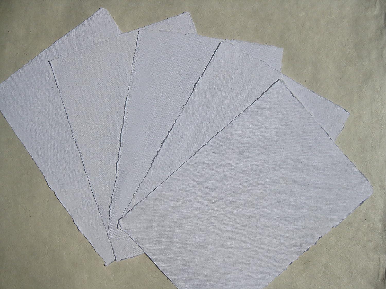 carta fatta a mano acquerello carta A410fogli/set extra forte 300G/M² Bianco Naturale Cotone linters tribal paper bhutanpaperarts AQ304