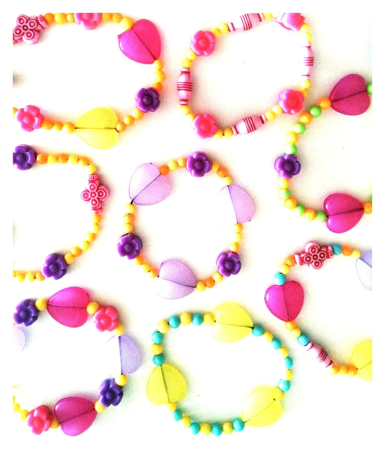 Chilldrens Colourful Mixed Shape Beads Jewellery Kit (makes 8 bracelet)