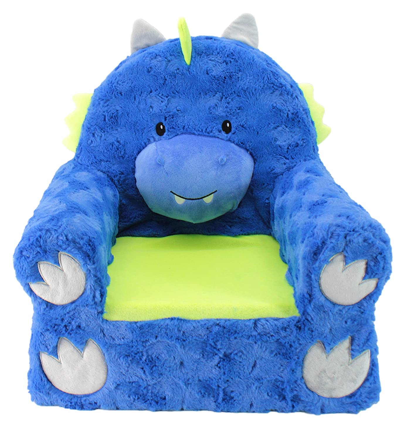 Animal Adventure Sweet SeatsBlue Dragon Children's ChairLarge SizeMachine Washable Cover