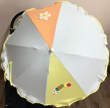 Sombrilla para silla de paseo + flexo universal. Parasol gusano celeste: Amazon.es: Bebé
