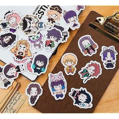 Anime Demon Slayer: Kimetsu No Yaiba Cute Decals Stickers (26 PCS): Arts, Crafts & Sewing