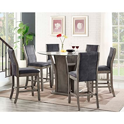 Picket House Furnishings Dylan 7 Piece Round Counter Height Dining Set