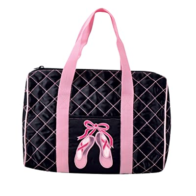 Dansbagz Quilted on Pointe Duffel Bag One Size Black