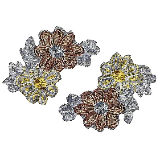 5 cm B/ügelbild Aufn/äher Applikation Trachten Edelwei/ßranke Bl/üte Blumen Bayrische Blume Belldessa Edelwei/ß Ranke 9,6 cm