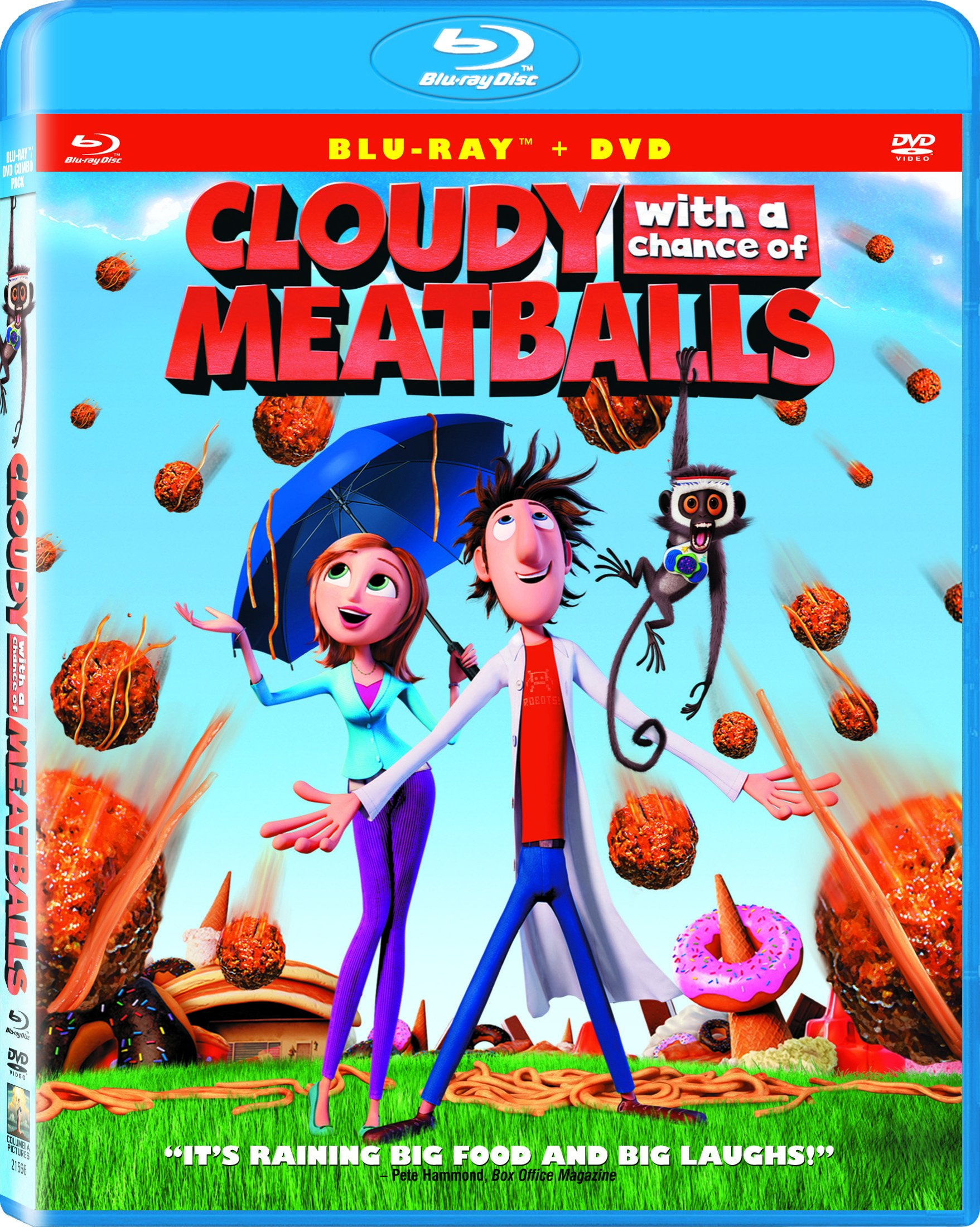 Blu-ray : Cloudy With a Chance of Meatballs (With DVD, , Dubbed, Dolby, AC-3)