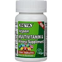 Deva Vegan Multivitamin, Mineral Supplement, Tiny Tablets, 90 Count Bottle