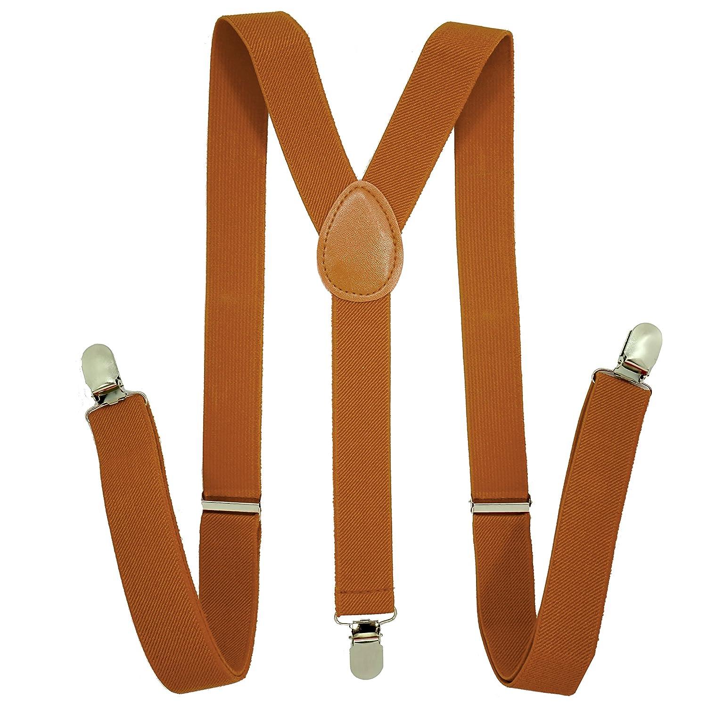 Suspenders for Men - 1 Inch Y Back Style - Elastic Adjustable Straps 1)