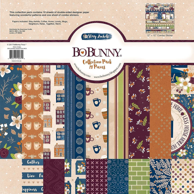 Bo Bunny carta per scrapbooking, 30,5 x 30,5 cm 5x 30 5cm American Crafts 7310061