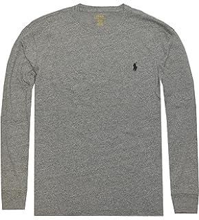 3c85971b5 Polo Ralph Lauren Men s Long Sleeve Pony Logo T-Shirt - Large - Vintage  Pepper