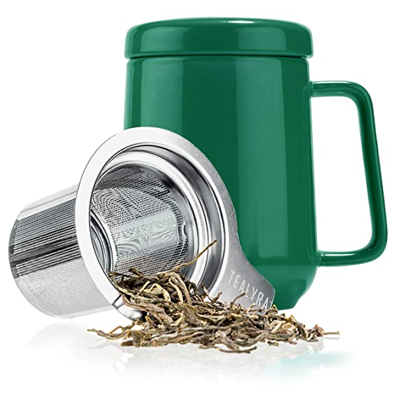 22340434c1b Tealyra - Peak Ceramic Green Tea Cup Infuser - 19-ounce - Large Mug ...