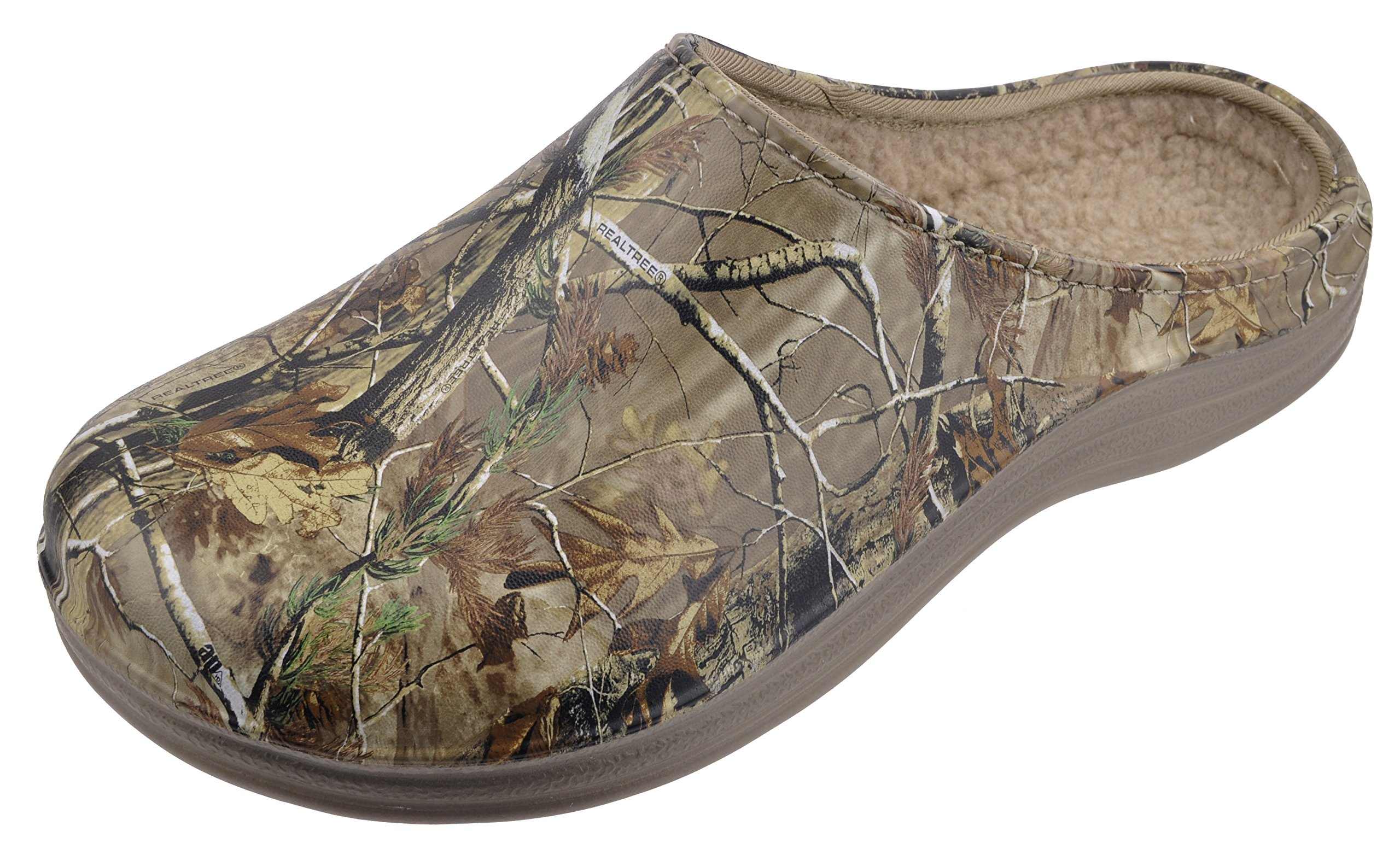 Realtree Men's Camouflage Clog Slip-on Shoe, with Lining, Size 7 to 13 (12, Camouflage Pattern)