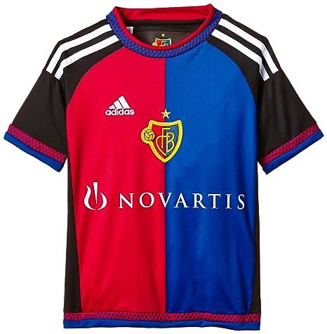 adidas FC Basilea hogar Replica – Camiseta para niño, Camiseta, Color Black/White