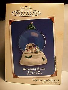 Hallmark Keepsake Ornament Bringing Home The Tree Winter Wonderland 1st in Series 2002