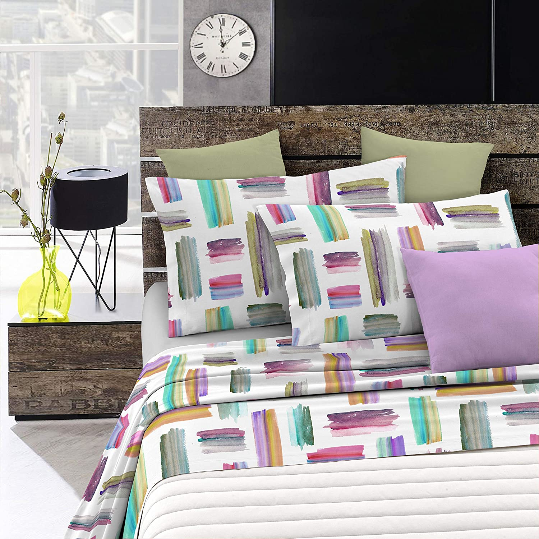 Fantasy sàbana de cama de fantasía en microfibra impresa, multicolor, Sìngolo