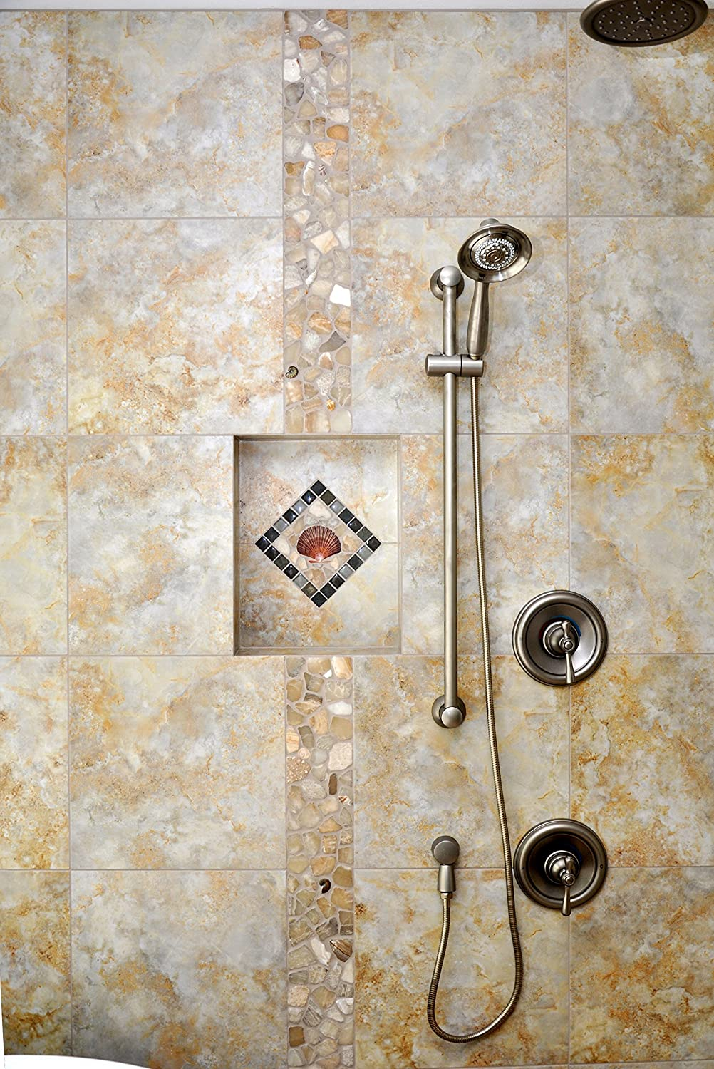 Amazon.com: Shower Niche 12x12 Finished Tiled Size 14x14 Rough ...
