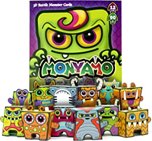 Box Buddies Monyamo - Pack of 12 Monster Paper Toy Cards - Fun Paper Craft for Kids, Monster Party Favors