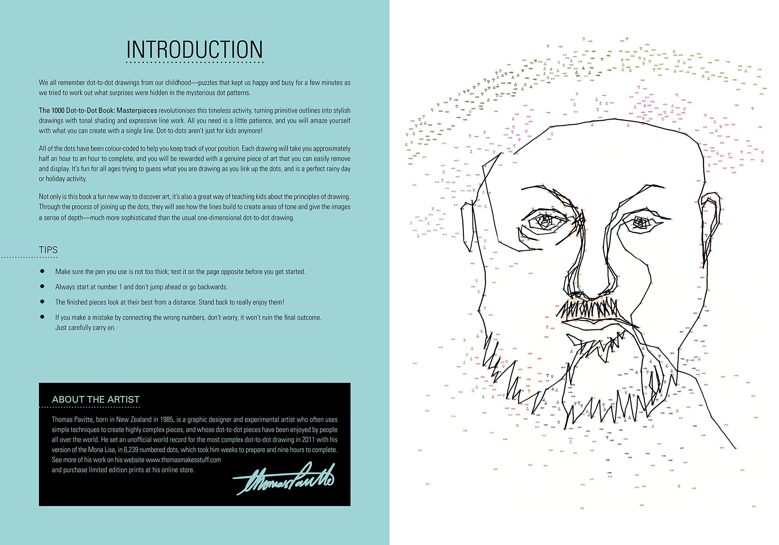 amazon com the 1000 dot to dot book masterpieces ilex art