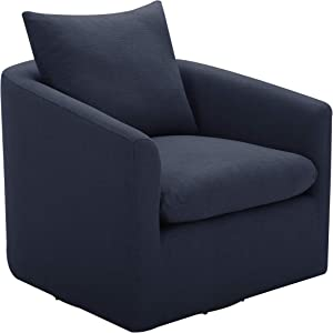 "Amazon Brand – Stone & Beam Elisabet Upholstered Swivel Chair, 33.5""W, Midnight"