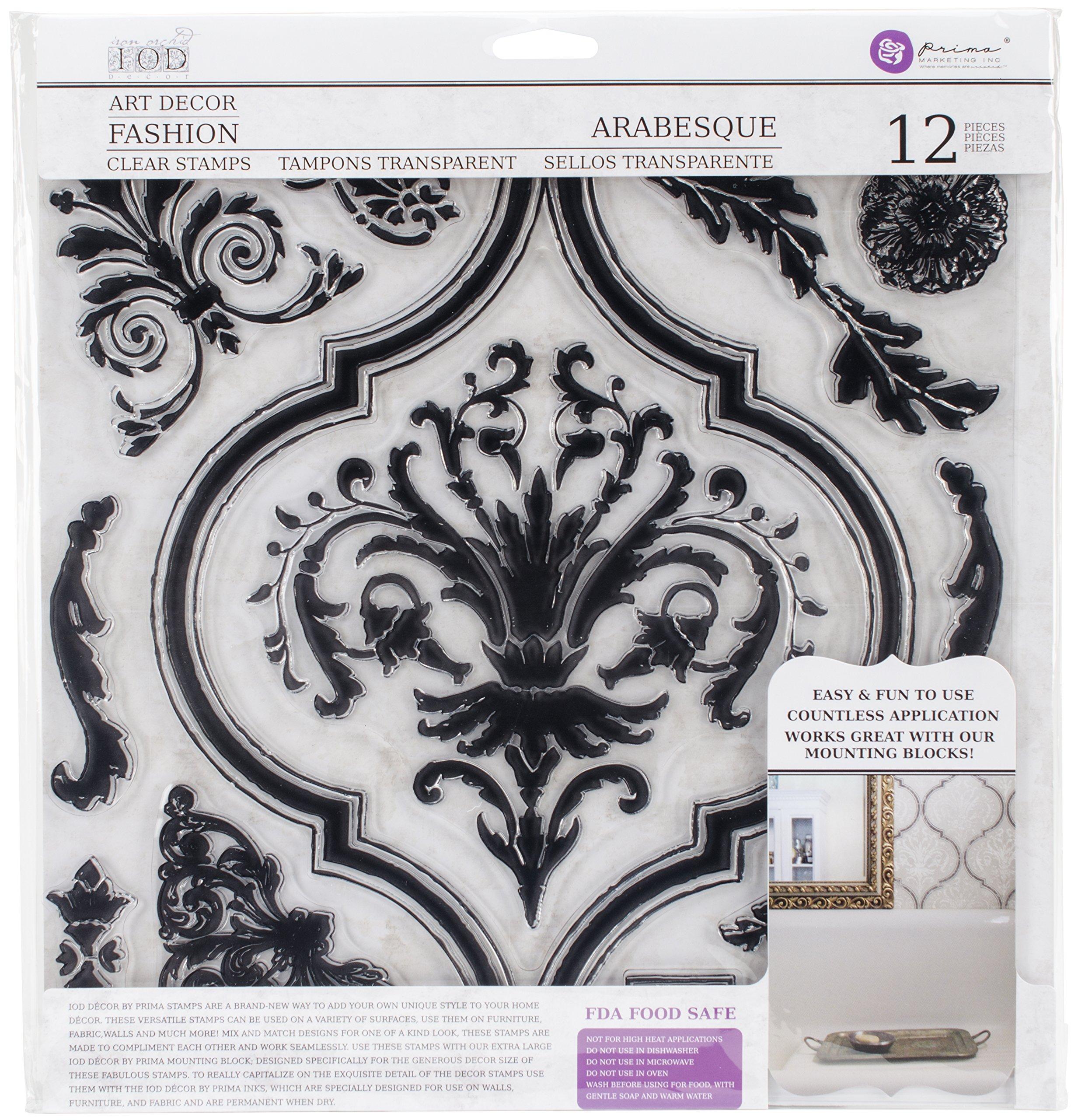 Prima Marketing Iron Orchid Designs Decor Clear Stamps -Arabesque, 12'' x 12''