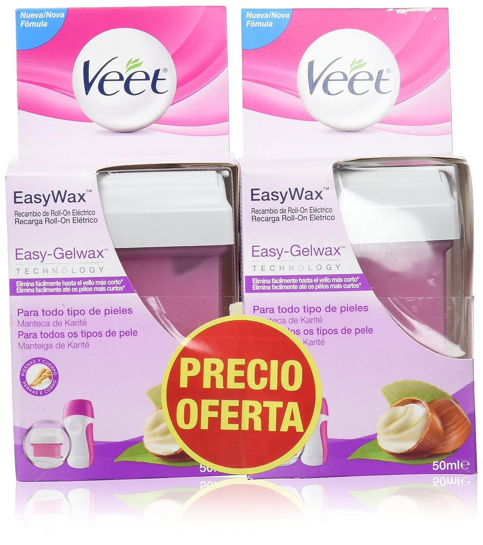 Veet Easy Wax Recambio de Roll-On Eléctrico - 2 Unidades x 50 ml Reckitt Benckiser Healthcare 3061034