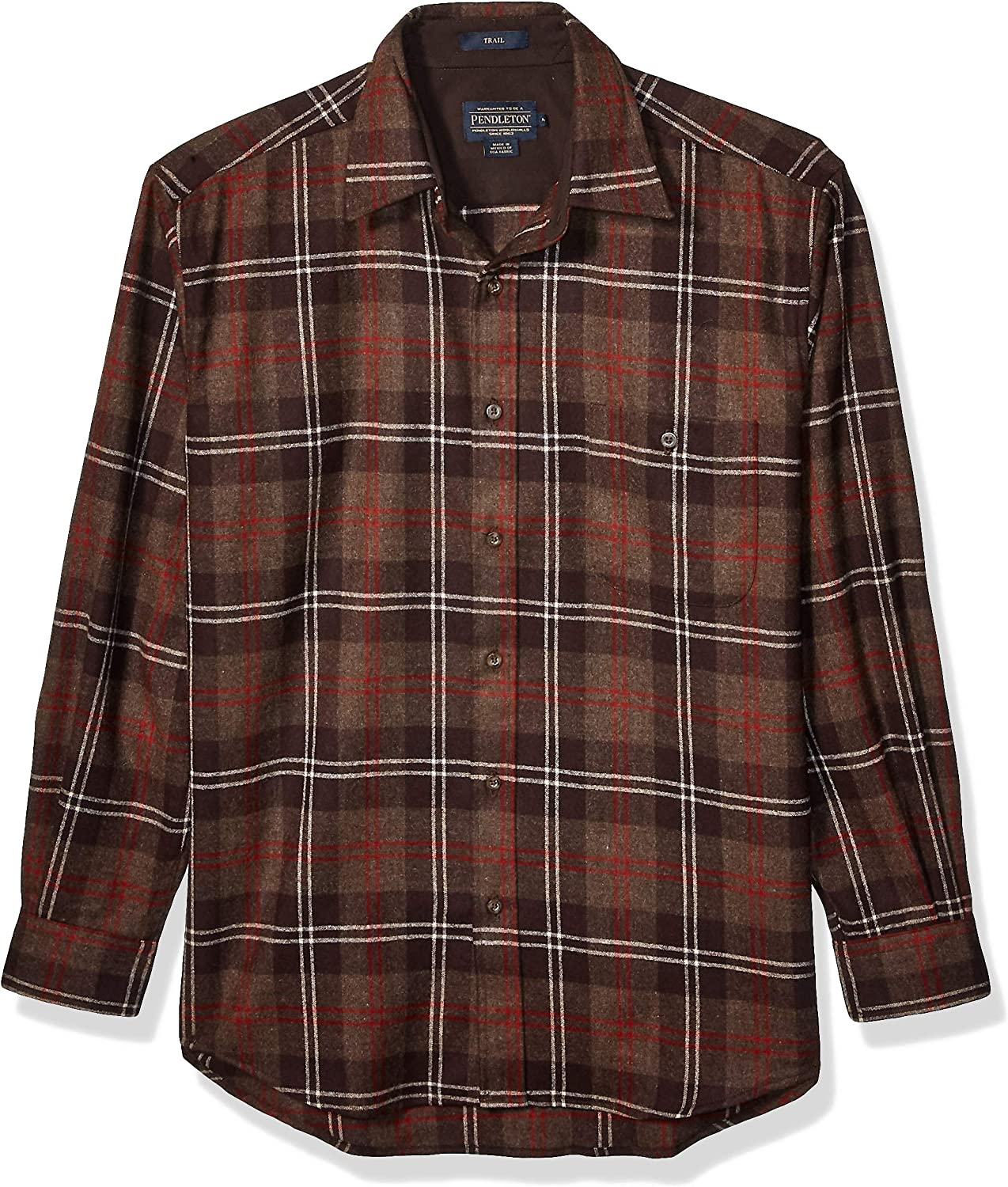 Image of Pendleton Men's Long Sleeve Button Front Classic-fit Trail Shirt