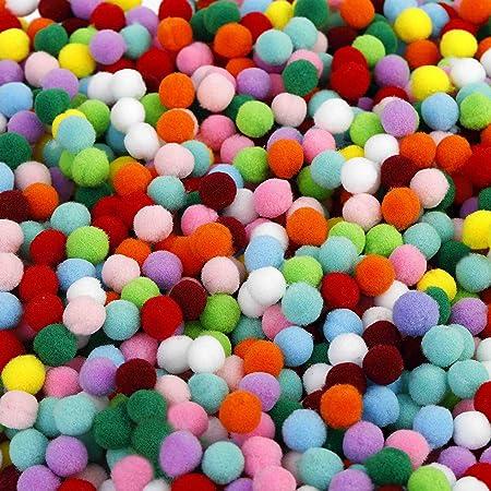 10mm Pompones Pequeño Paquete de 100-16 opciones de color