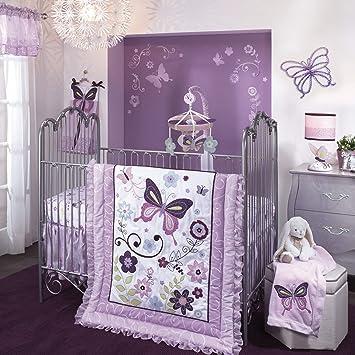 Amazon.com: Lambs & Ivy Butterfly Lane – Juego de cama para ...