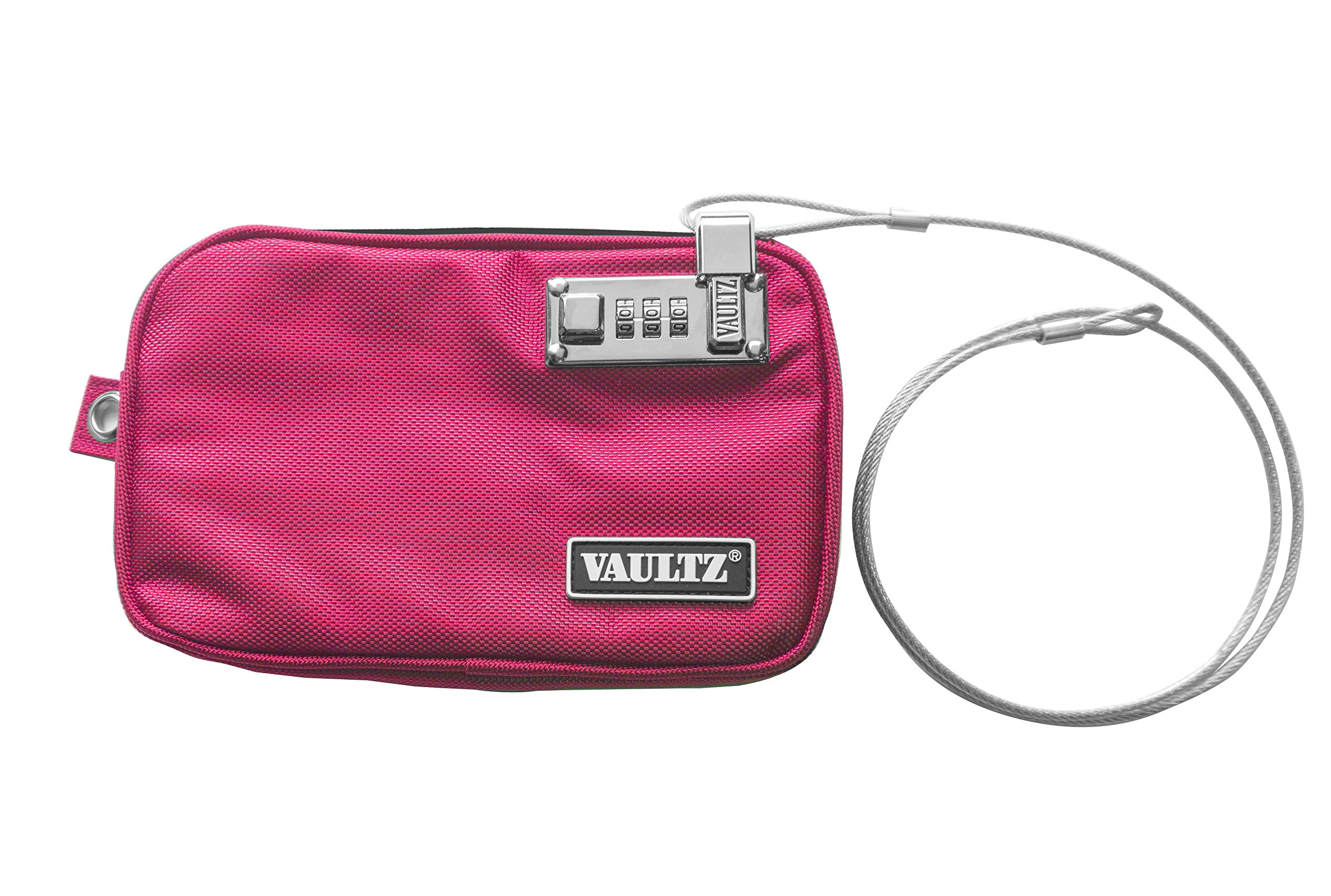 Vaultz Small Locking Electronics Pouch, 5 x 8'', Pink (VZ03432)