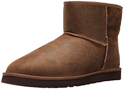 UGG Men's Classic Mini Winter Boot, Bomber Jacket Chestnut, ...