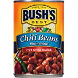 Bush's Best Hot Pinto Chili Beans, 16 oz (12 cans)