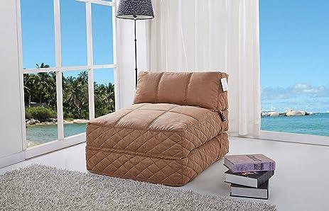 Gold Sparrow Austin Bean Bag Chair Bed, Cobblestone