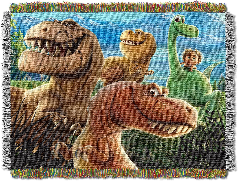 Multi Color Disneys The Good Dinosaur Dino Mash Woven Tapestry Throw Blanket 48 x 60