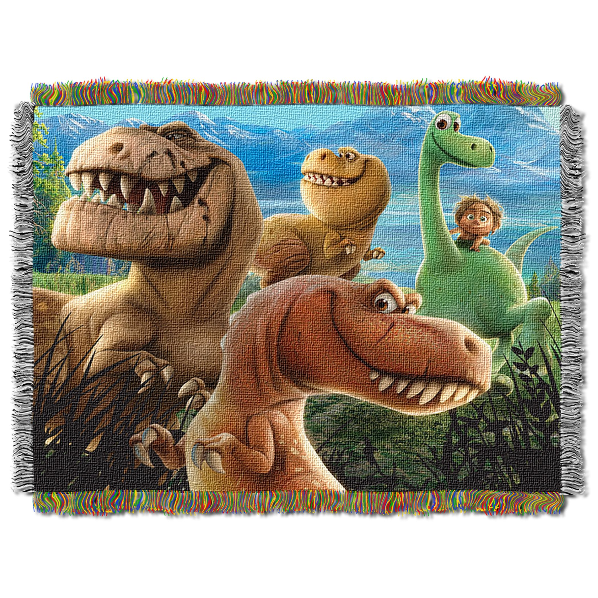Disney's The Good Dinosaur, ''Dino Mash'' Woven Tapestry Throw Blanket, 48'' x 60, Multi Color by Disney Pixar