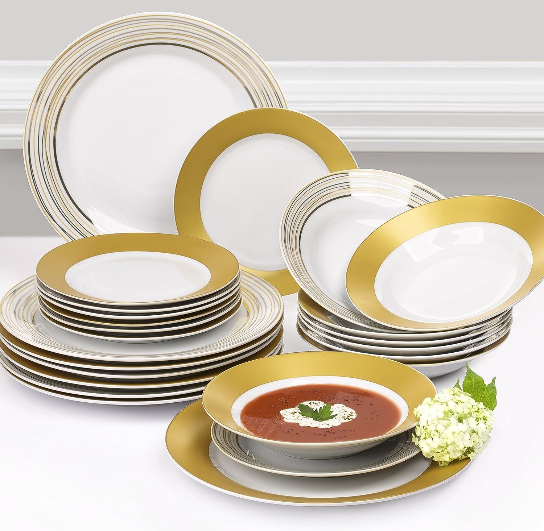 sc 1 st  Amazon UK & 24 Piece Majestic Gold Dinner Set (Sale): Amazon.co.uk: Kitchen \u0026 Home