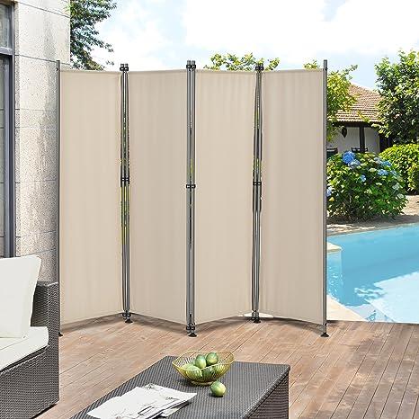 pro.tec]® Pared divisoria / Biombo - 215 x 170 cm - Color de arena - Biombo exterior - Mampara - Toldo Protector - Separador de espacios: Amazon.es: Hogar