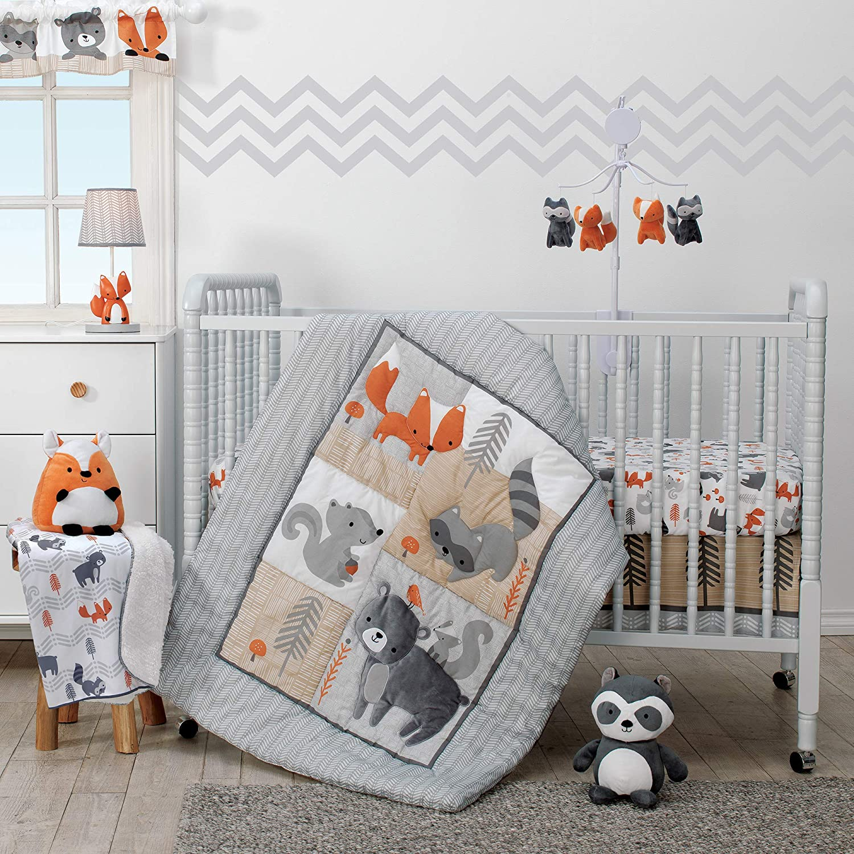 Bedtime Originals Acorn 3-Piece Crib Bedding Set Lambs & Ivy Bedtime 229003V