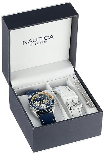 Nautica N09915G - Reloj de Pulsera Hombre, Resina, Color Azul