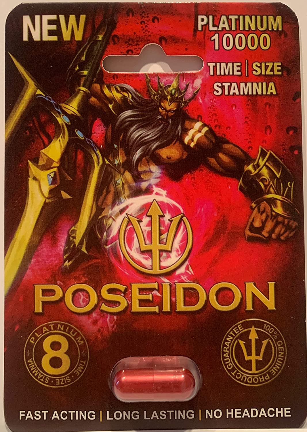 Amazon com: Poseidon 10000 24 pills Triple Max Male Sexual