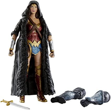 43983db6a8a Image Unavailable. Image not available for. Color  Mattel DC Comics  Multiverse Wonder Woman Caped Figure ...