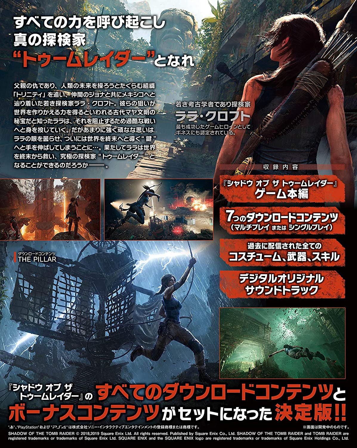 Square Enix Shadow of the Tomb Raider Definitive Edition for SONY ...
