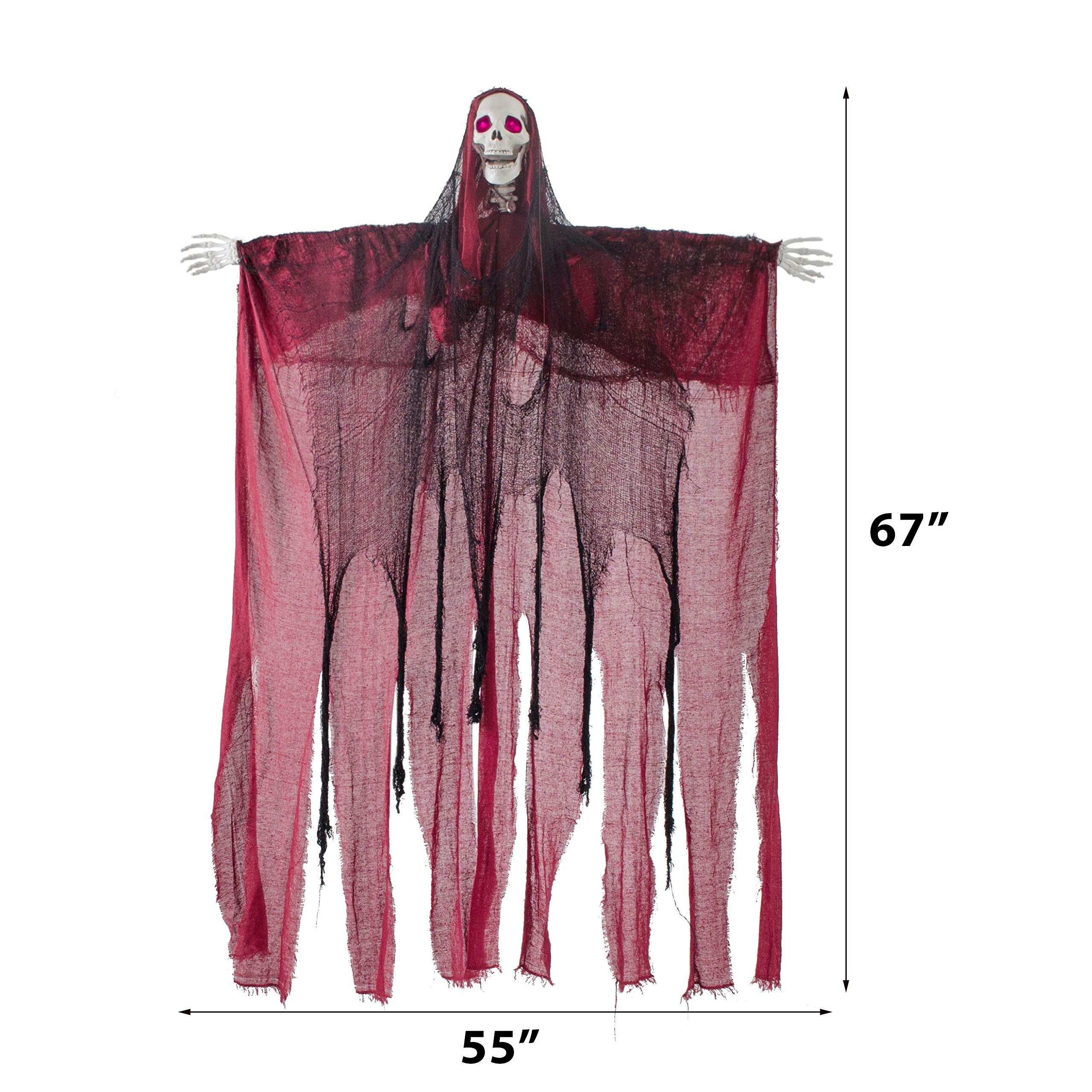 5 6 Ft Animated Hanging Screaming Ghost Decoration
