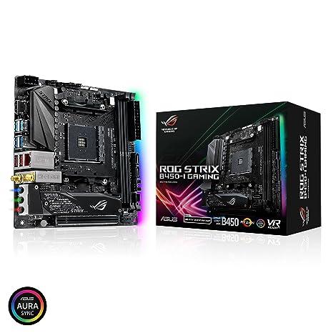 ASUS ROG Strix B450-I Gaming Motherboard (Mini ITX) AMD Ryzen 2 AM4 DDR4  HDMI M 2 USB 3 1 Gen2 B450