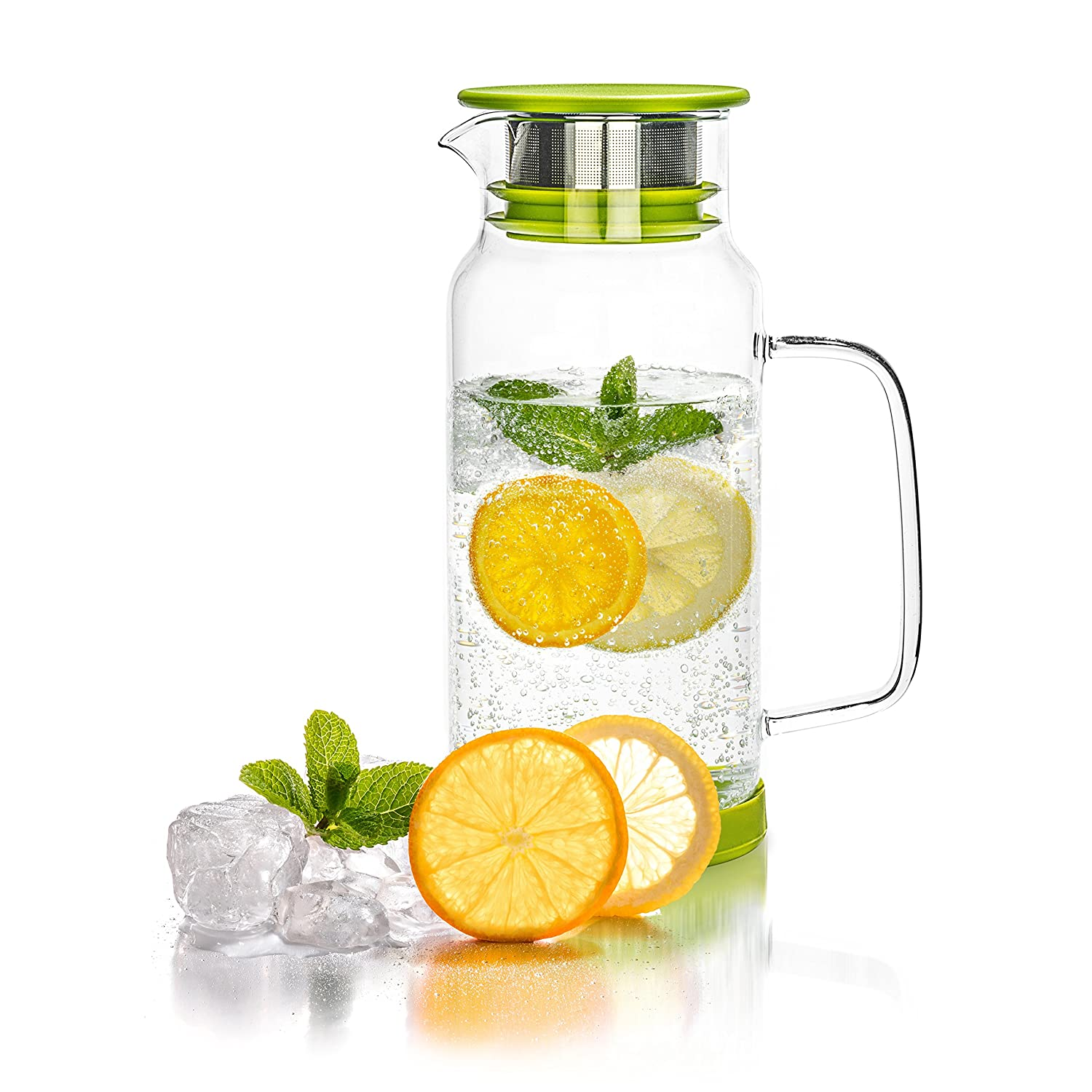 Tealyra - Large Glass Jug - 800ml - Borosilicate Glass Water Carafe Pitcher with Infuser - Tea Maker Brewing Filter - Hot and Iced Beverage - Juice - Tea - Coffee - 27-ounce COMINHKPR111297