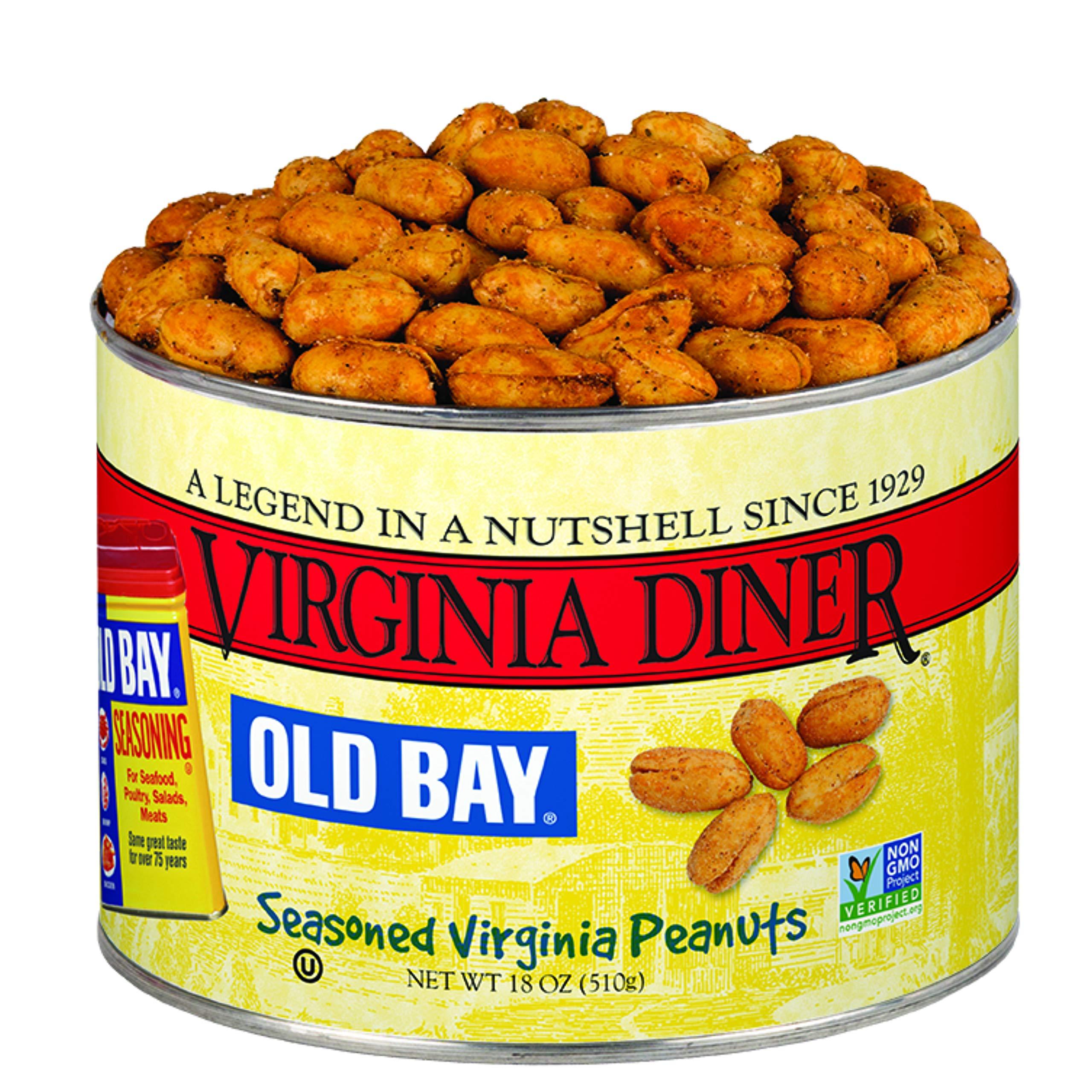 Virginia Diner Peanuts, Old Bay Seasoned, 18-Ounce by Virginia Diner