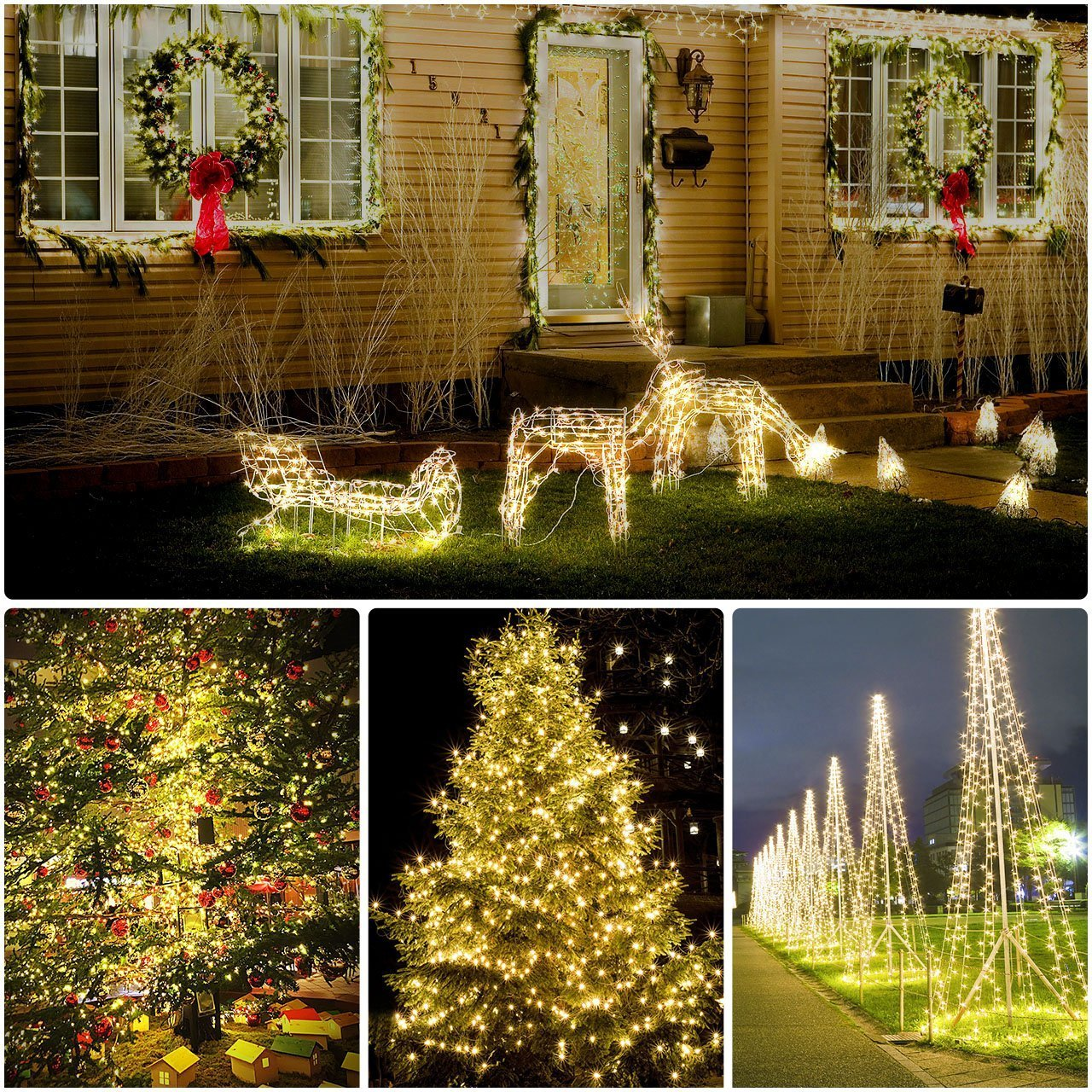 Adecorty String Lights LED Fairy Lights 2 Pack 200 LED 66ft 8 Modes USB Powered Starry String Lights with Remote, Waterproof Indoor Fairy String Lights for Home Party Bedroom Garden Wedding Christmas