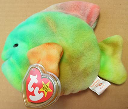 ae68388c760 Image Unavailable. Image not available for. Color  TY Beanie Babies Coral  the Fish ...