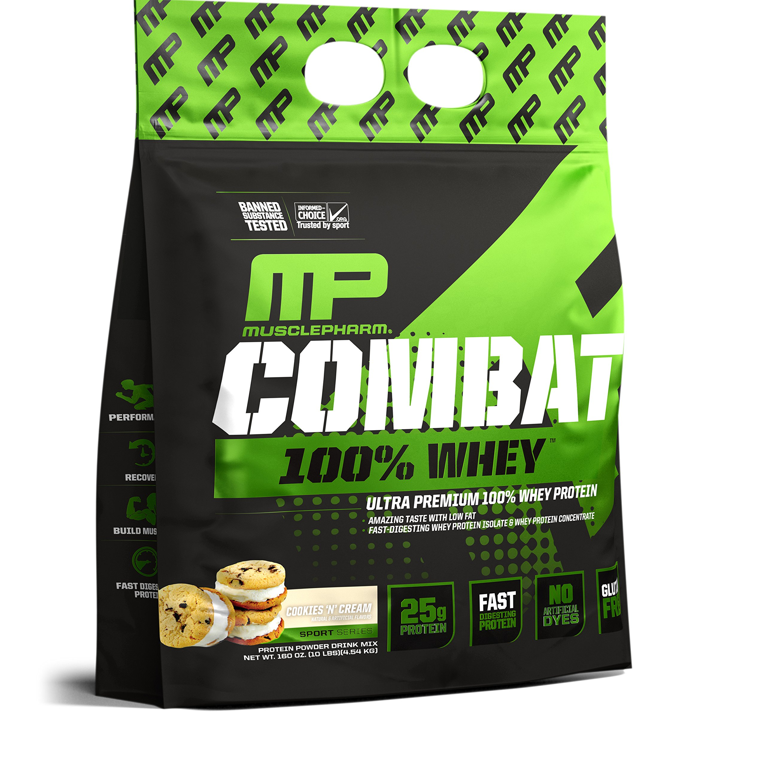 Muscle Pharm Combat 100% Whey Cookies 'n Cream, 10lbs, 2 Pound by Muscle Pharm (Image #5)