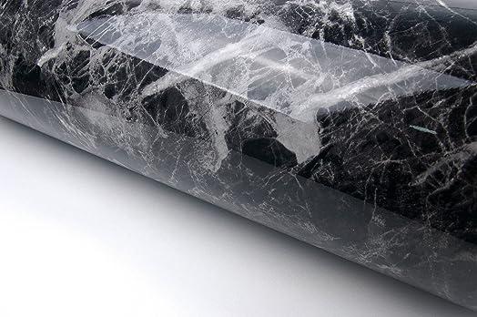 Black Grey Granite Look Marble Effect Contact Paper Film Vinyl ...